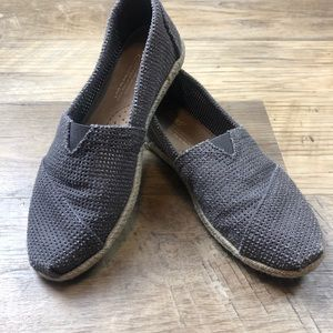 Toms Perforated Espadrilles Slip on Shoes 6